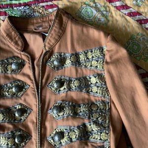 Free people twill band jacket xs
